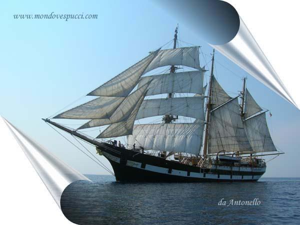 La nave scuola Palinuro. / pergamena.jpg